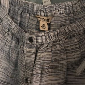 Dress Barn Tops - Plus size off the shoulder button up top
